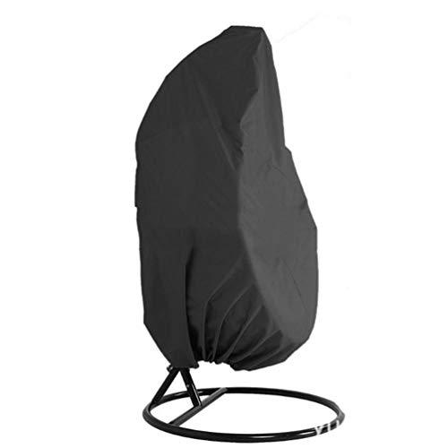 fawox 210 Oxford Cloth Garden Gartenmöbel Schaukelstuhl Regensicherer staubdichter Bezug Terrassen-Hängesesselbezug schwarz