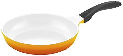 Steuber Culinario 051561 Bratpfanne ø 24 cm mit Induktionsboden, gelb/weiß