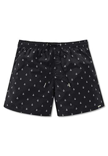 Schiesser Herren Bade-Shorts - Web-Badehose, Pants, Swim-Shorts, Anker, M-5XL Schwarz 5XL