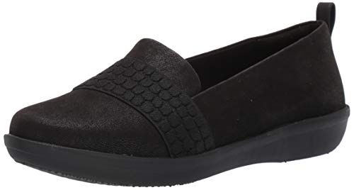 Price comparison product image CLARKS Women's Ayla Sloane Shoe,  Black Synthetic Nubuck,  9 M US