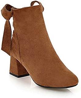 Garantía 100% de ajuste HOESCZS 2019 Botines de Mujer Zapatos de tacón tacón tacón Alto de Invierno Plataforma Plataforma Punta Cuadrada Casual Cremallera Mujeres botas Tamao Grande 34-42  buena calidad