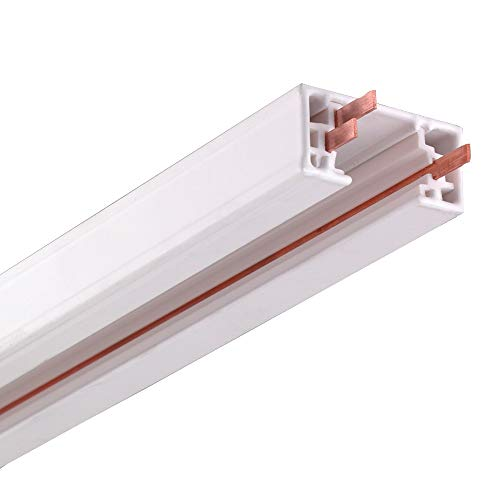 NICOR Lighting 4 Ft. White Track Lighting Rail Section, H-Type [3-Wire] (10004WH)