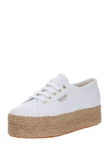 Superga 2790 Cotdrillropew S1117IW 901 - Zapatillas para Mujer, Color Blanco, Color Blanco, Talla 41 EU