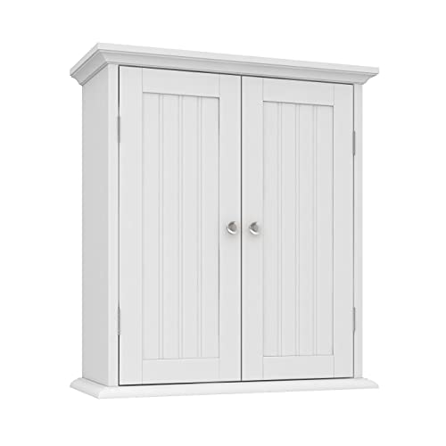 ChooChoo Bathroom Wall Cabinet, Over The Toilet Space Saver Storage Cabinet, Medicine Cabinet with 2...