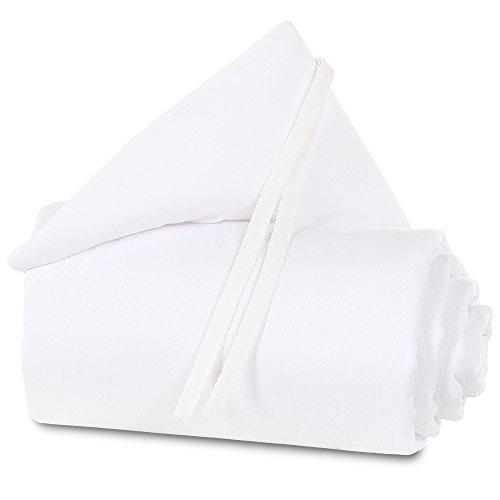 babybay 100821 Protector de cuna de colecho piqué, adecuado para el modelo Original, blanco