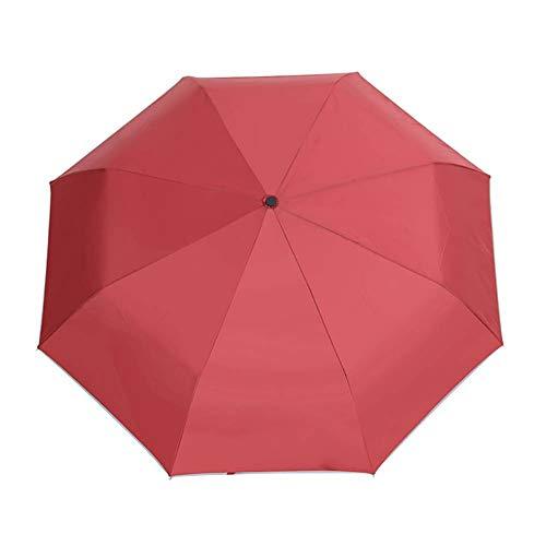 Paraguas Plegable Totalmente automático, protección de visión Nocturna, Linterna LED, Paraguas sombrilla...