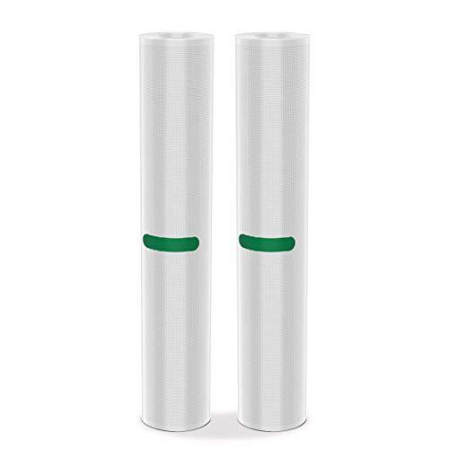 Toyuugo Folienbeutel 2 Rollen 28x300 cm für Vakuumierer BPA-frei Vakuumbeutel Ideal für Lebensmittel und Sous Vide (Vakuumierfolie)