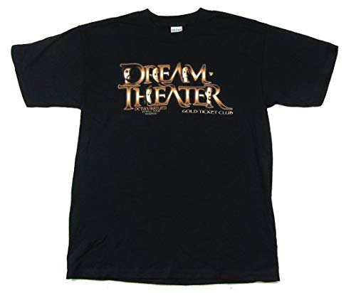Dream Theater Octavarium Tour Gold Ticket Club Black T Shirt New
