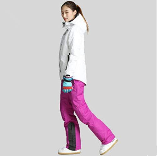 JSGJHXFWinter Skipak voor dames, hoogwaardig ski-jack, warmwaterdicht, winddicht, skiën, snowboarden, dames, skipak, maat 8,38