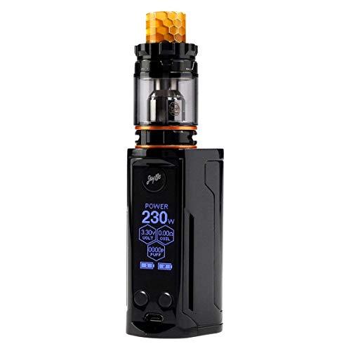 Wismec Reuleaux RX GEN3 Dual mit GNOME King Kit Vape Akku 230W E zigarette Versenkbare Top Fill mit 5.8 ml(100% Original)/Ohne Nikotin Ohne Tabak(Gloss Black)
