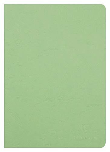 Clairefontaine 733003C Heft AgeBag (DIN A4, 21 x 29,7 cm, blanko, ideal für Ihre Notizen und Zeichnungen, 48 Blatt) 1 Stück grün