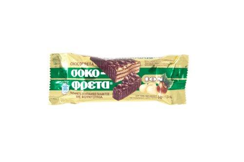 ION Greek Traditional Chocofreta with Hazelnuts - 20 Bars X 38g by N/A