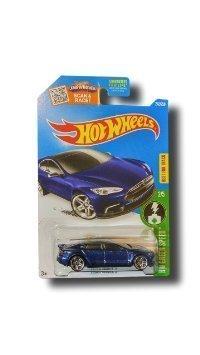 Hot Wheels, 2016 HW Green Speed, Tesla Model S [Blue] Die-Cast Vehicle # 242/250 by Hot Wheels