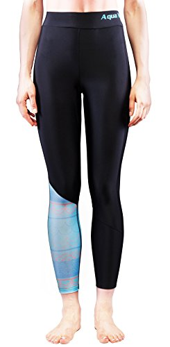 Aqua Marina Illusion Damen Rash Guard Legging Hose surfen sup Blue