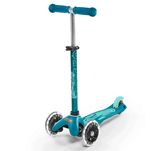Dzwyc Scooter Scooter de manija Ancha de Alta Elasticidad, Scooter de Lujo de 3 Ruedas para el Planeador de Altura Ajustable para Principiantes con Scooters de Patada, Magro para dirigir Patinetes