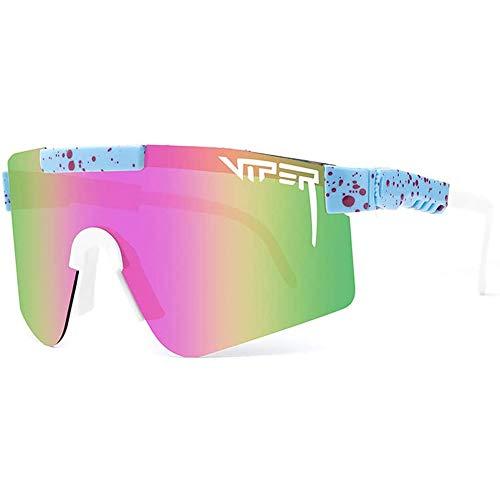 Pit Viper Sonnenbrille, UV400 polarisierte Sportbrille, Anti-UV TR90 Fahrradbrille, Outdoor-Brille Sonnenbrille für Herren und Damen Laufen Angeln Klettern Trekking Skifahren Fahren Golfurlaub,C5