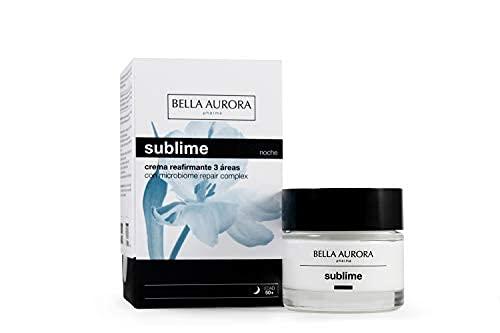 Bella Aurora Crema de Noche Mujer Anti-Edad Regeneradora 50+ Años, 50 ml | Anti-Arrugas | Efecto Lifting | Pieles Maduras | Cuida y Mejora el Microbioma de la Piel | Sublime