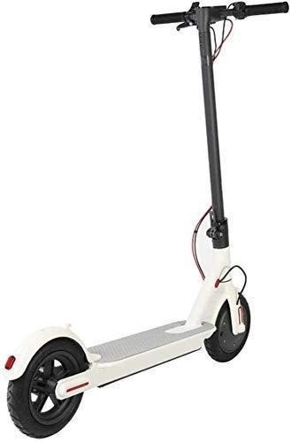CHNG Scooters para Adultos, Scooter eléctrico, Coche eléctrico Plegable, Doble Freno, luz indicadora de Potencia LED, Paso para Adultos, 8,5 Pulgadas, 13-18 km