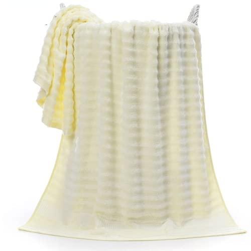Juego de toallas de algodón egipcio de 70 x 140 cm de grosor de fibra de bambú, toalla de baño de bambú, toalla facial, juego de toallas súper absorbente
