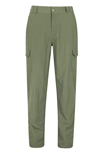Mountain Warehouse Pantalon Femmes Explore - Pantalon de randonnée résistant au rétrécissement et décoloration, séchage Rapide, décontracté, Poches - Voyage, Camping Kaki Taille Hommes 58 EU