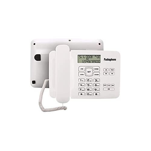 JDJFDKSFH Teléfono Fijo con Cable, teléfono con Cable con ID de Llamada/FSK/DTMF Doble Sistema/Identificador de Llamadas, Redial, Funciones de Manos Libres/Pantalla LC