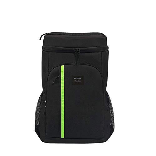 AINY Cool Bag Rucksack Thermos Sac À Dos Sac À Dos Isolé Imperméable Léger Grande Capacité Cooler Bag Sac À Dos pour Pique-Nique, Randonnée, Camping Et Plage,Noir