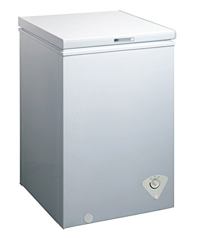 Price comparison product image midea WHS-129C1 Single Door Chest Freezer,  3.5 Cubic Feet,  White