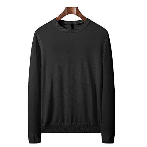 Jersey Fino de Cuello Redondo para Hombre Jersey de Punto Fino Slim Fit Stretch Color sólido Clásico básico Casual Pullover 3X-Large