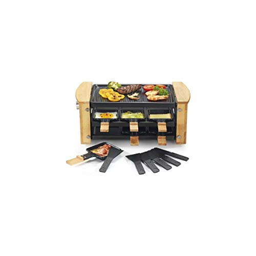 Kitchen chef - kcwood.6rp - Appareil … raclette 6 personnes 900w + grill