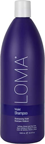 Loma Hair Care Violet Shampoo, Vanilla Bean/Blood Orange, 33.8 Fl Oz