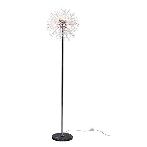 Stehlampe, Stangenlampe Fackelleuchte Stehleuchte Lampen für Wohnzimmer Stehleuchte Stehleuchte Vermessungslampe Pusteblume einfache Persönlichkeit kreative Stehlampe Stil S chrome