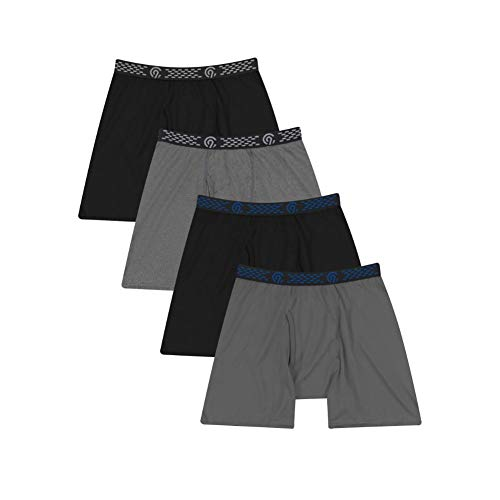 C9 Champion Men's Boxer Brief, Heather/Ebony/Thundering Grey, S
