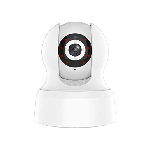 Cámara de seguridad WiFi IP 720P, cámara de seguridad inalámbrica Smart Life Red con seguimiento de movimiento, compatible con Amazon Alexa Echo Google Home