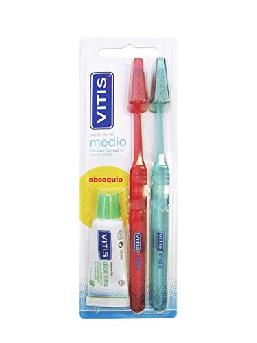 DENTAID VITIS Duplo Cepillo Dental Medio