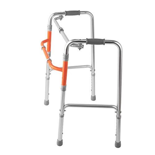 BXU-BG Rollators ancianos ayuda for caminar, de cuatro patas andador, muletas se puede plegar antideslizante bastón con el Hospital