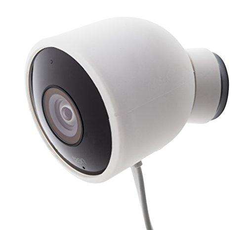 Fundas de Silicona de Color para cámara de Seguridad de Exterior Nest CAM – Protege y camufla, Fundas de Silicona Resistentes a Rayos UV e Impermeables de Wesserstein (1 Pack, Blanco)