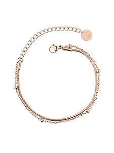 a little something® Armband Yanaka   Damen Armkette mit 18 Karat Vergoldung (Gold & Roségold)   Inklusive nachhaltiger Geschenkverpackung mit FSC®-Zertifikat