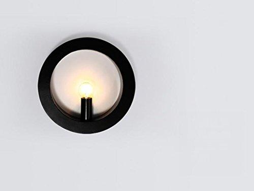 Chambre Lampe de chevet lampe couloir noir et blanc Lampes murales (couleur : Noir)
