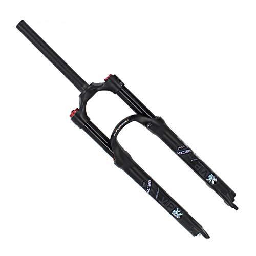 RSTO Horquilla de Suspensión 26' 27.5 Pulgadas 29er Bicicleta Aleación Horquillas de Aire, 1-1/8' Viaje: 100 mm - Negro/Blanco - 1750g-1800g Amortiguador (Color : Black, Size : 29 Inch)