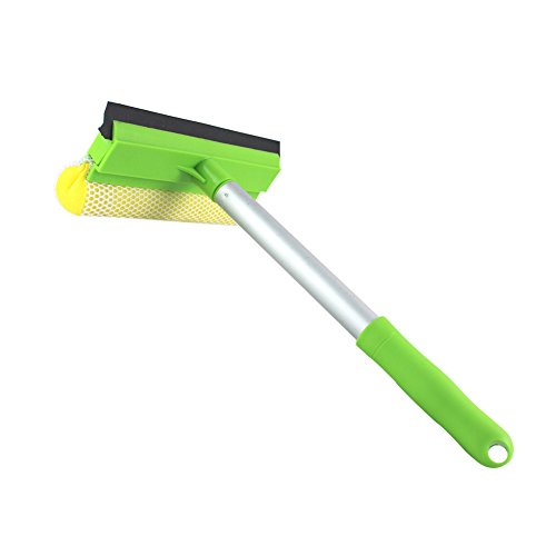 Limpiacristales 2 en 1 de malla para limpieza de ventanas y espátula profesional ,herramientas para el lavado del cristal del coche (espátula con mango práctico)
