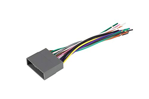 Scosche HA10B Compatible with Select 2006-10 Honda Civic Power/Speaker Connector / Wire Harness for Aftermarket Stereo Installation with Color Coded Wires