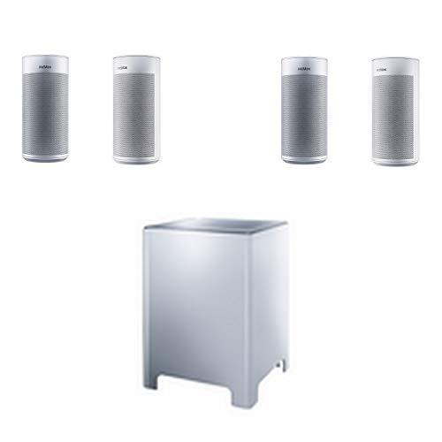 Revox STUDIOART A100 + P100 (Paar) Lautsprecher + B100 Subwoofer Room Speaker schwarz weiß Bluetooth (Set weiß)