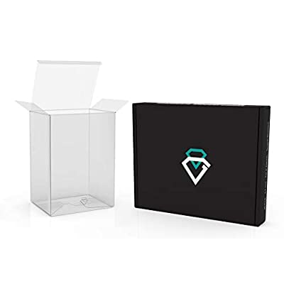 """Diamond Guard 0.5 mm Premium Pop Protector for Funko 4"""" Inch Pop! Vinyl Collectible Figure. Real Scratch Resistant, Reinforced Edges, Crystal Clear Soft Display Case. Pack of 20 Funko Pop Protectors."""