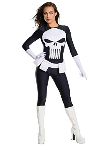 Rubie 's Offizielles Damen Marvel Secret Wishes Punisher Kostüm–Medium–UK 12–14