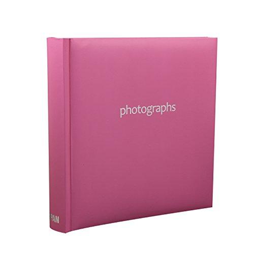 ARPAN - Álbum de Fotos, Capacidad para 200 Fotos de 10 x 15 cm, con Notas, 23 x 23 cm, Color Rosa