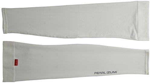 Pearl Izumi Arm Sleeves With Sun Protection And Cooling Effect For Full Coverage While Cycling, White, Medium