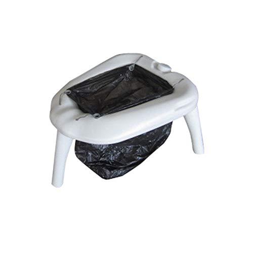 J.W. Wohnmobil Camping WC im Freien beweglichen Einfach Removable Toiletten Sitz Mobile Home Camp WC Loo Kommode mit 4L Flush Spritzpistole für Auto Garten Zelt Wohnwagen Boot,3Short Legs