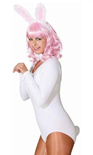 O43804 - Disfraz de conejo para mujer, color blanco
