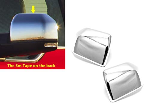 eLoveQ Chrome Top Half Side Mirror Cover Covers Compatible with 2015-2019 Ford F-150