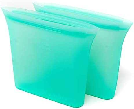 2 Pack Reusable Silicone Food Storage Bags BPA Free Silicone Airtile Seal Lunch Bag and Snakes product image